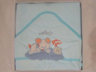 Детское полотенце уголок для новорожденных Мишка микромахра